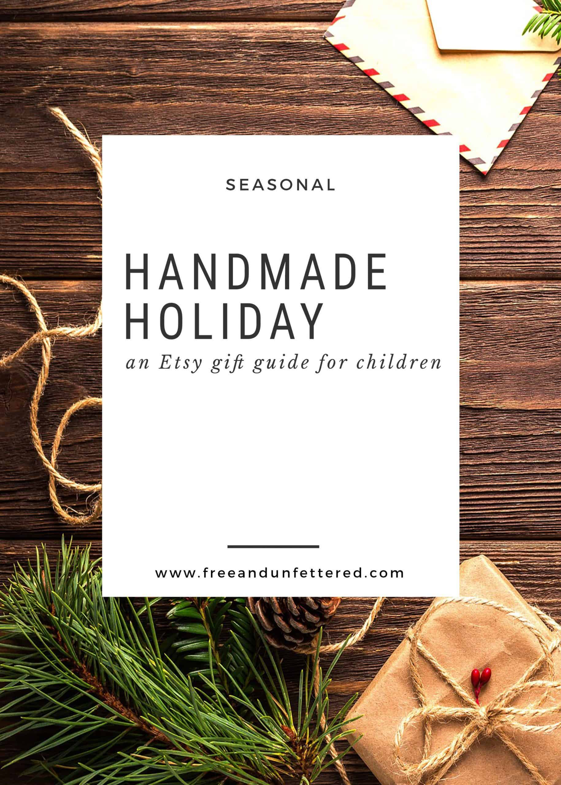 Handmade Holiday: An Etsy Gift Guide for Kids
