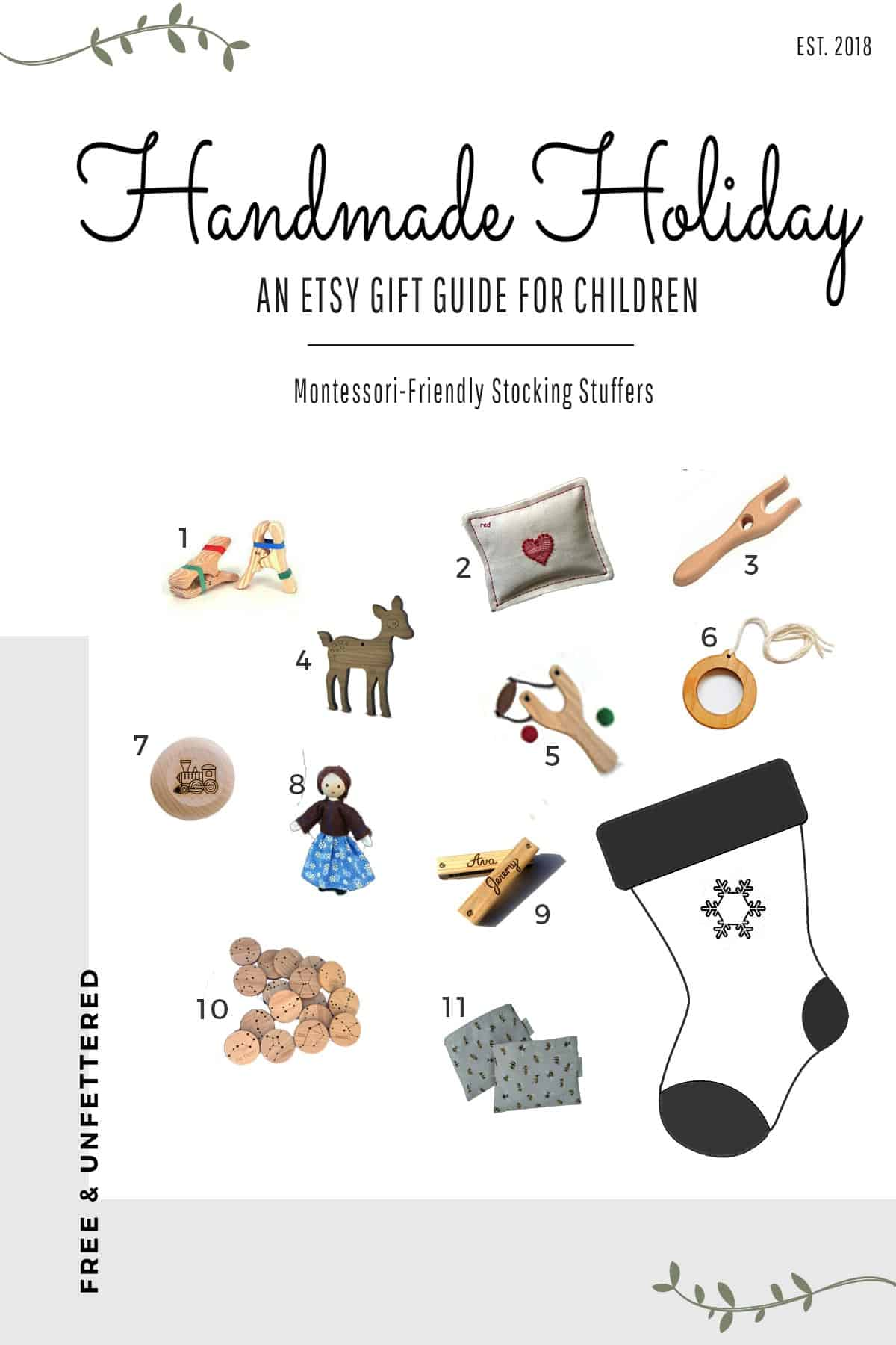 montessori-friendly stocking stuffers from small shops for Christmas
