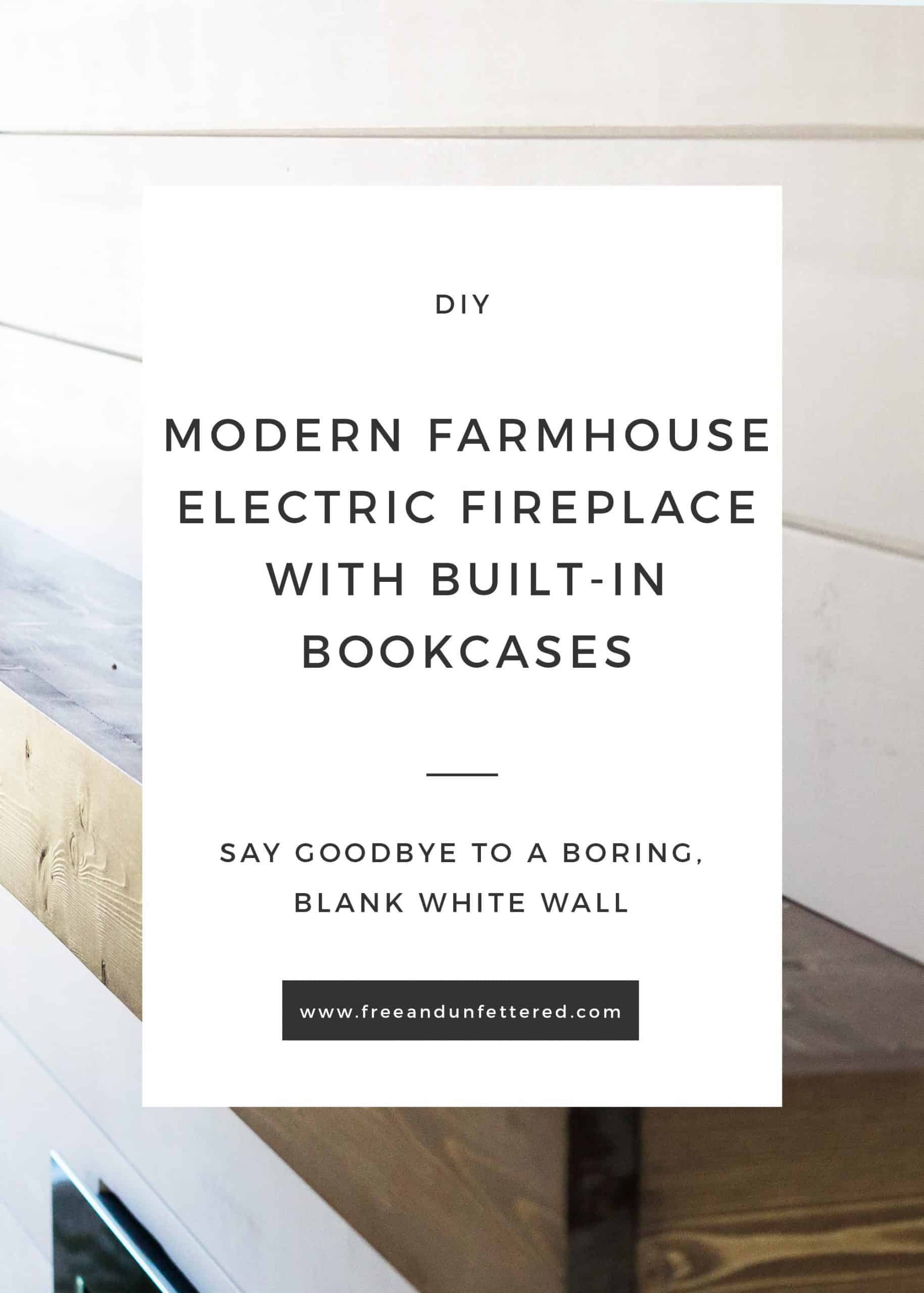 shiplap fireplace surround with custom built wooden floating mantle