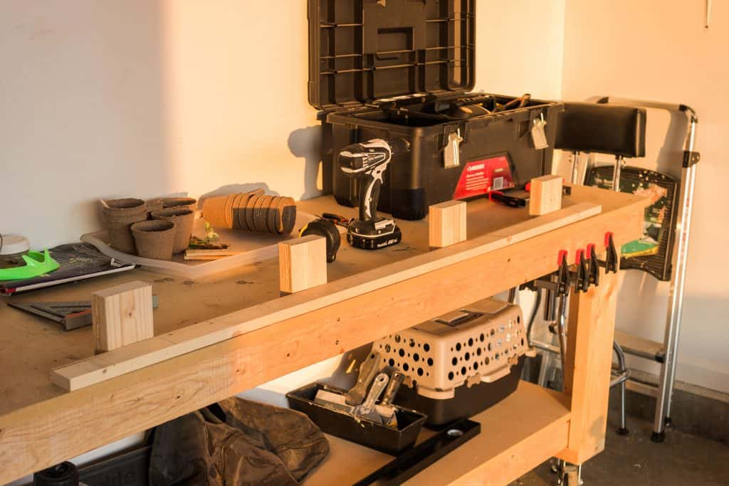 """Use a 1x4 ripped to 2"""" and 4 2x4 braces to build the support for a floating mantle to be installed over an electric fireplace"""