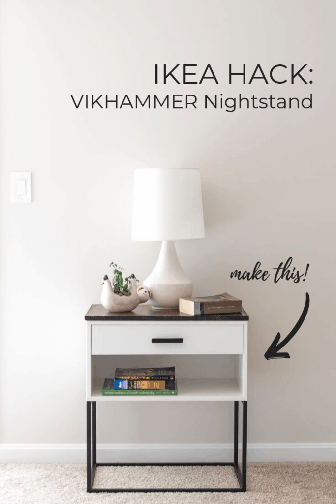 Ikea Hack A Vikhammer Nightstand Makeover Free And Unfettered