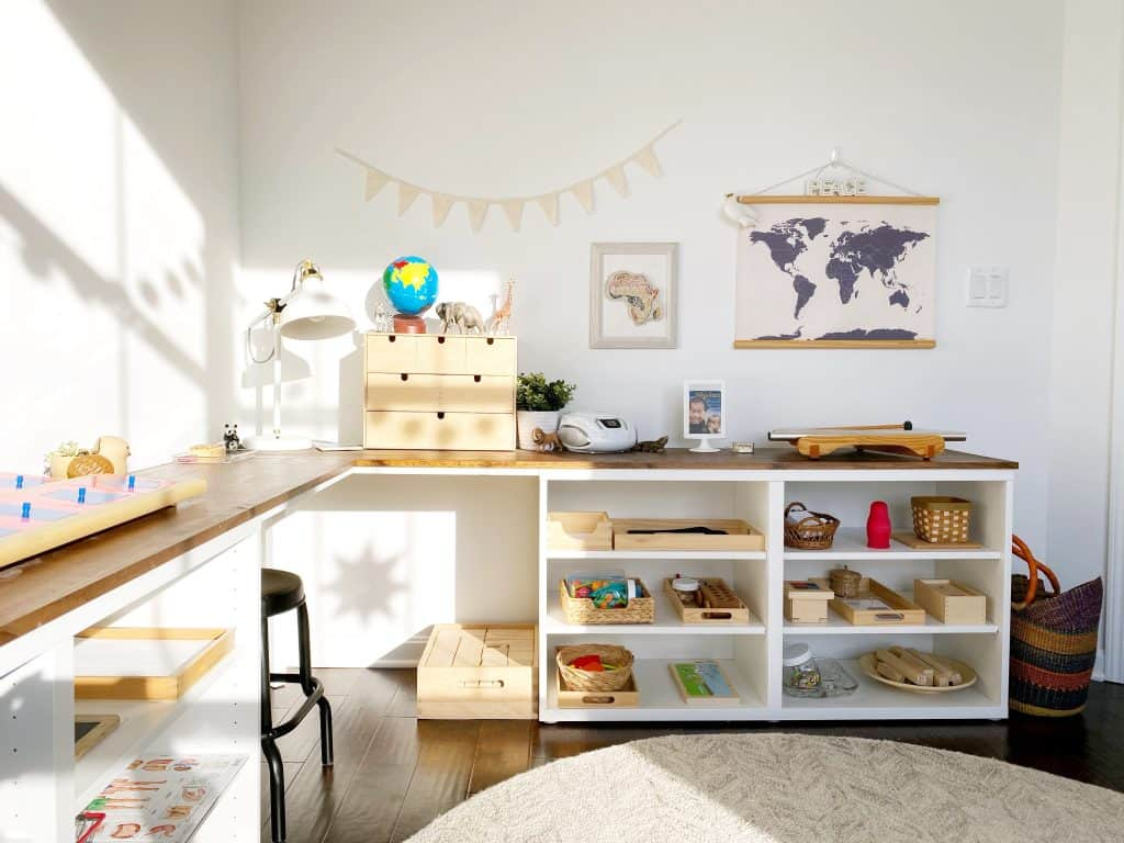 Home Tour Our Montessori Inspired Schoolroom And Playroom A Free Guide To Designing Spaces For Children Free And Unfettered
