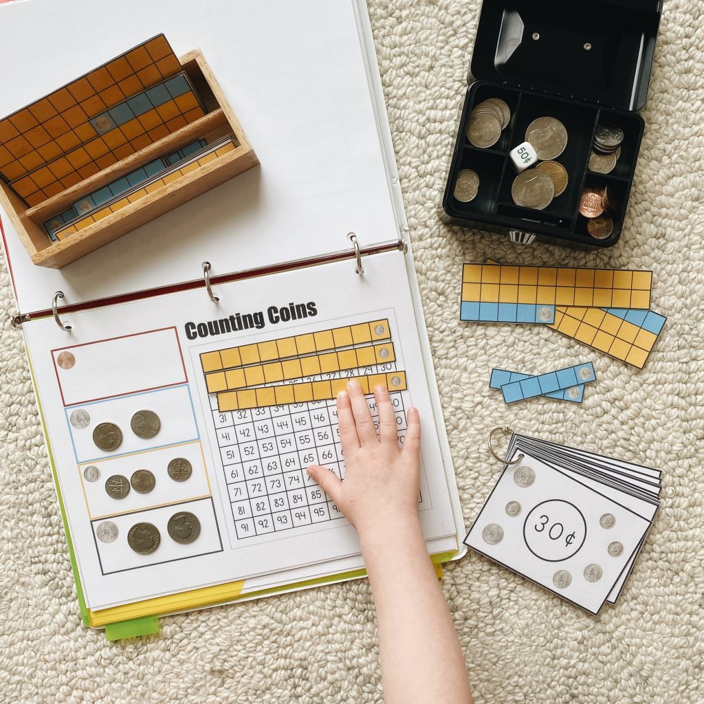 Use these Montessori-inspired hands-on learning materials and activities to have some fun exploring money math with your kids.