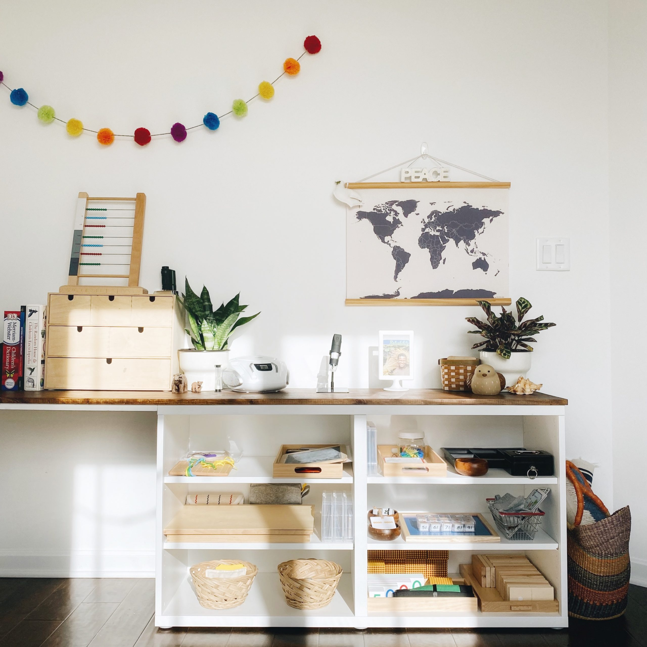 Looking for some ideas for your Montessori 4-year-old at home? Here's a detailed look at what Montessori-inspired materials and activities are currently available to our preschooler.