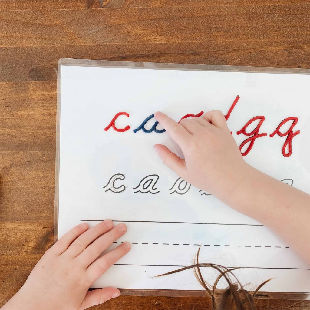 Using tactile letters with preschoolers can assist letter formation and recognition skills as they begin learning to write and read. #montessori
